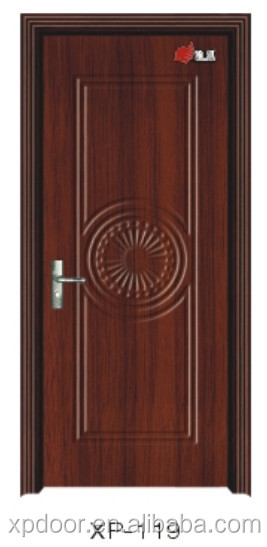 Interior bathroom PVC wooden door design
