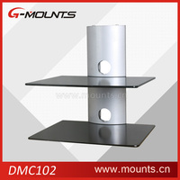 Glass set-top box tv mount dvd wall bracket shelf,tv and dvd wall bracket