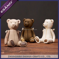Hot sale ornament teddy bear resin art and crafts