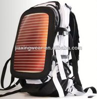2014 Fashion 2.4w solar charger sport bag backpack for outdoor emergency charge