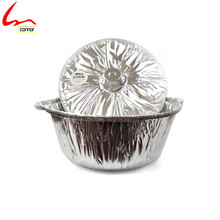 New! Disposable Round Aluminium Foil Pot With Lid