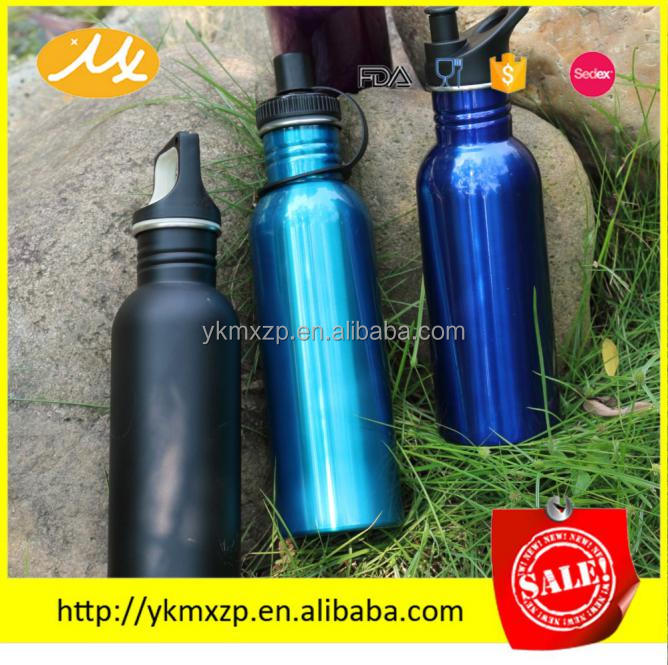 201 metal customized small mouth sport water bottle carrier