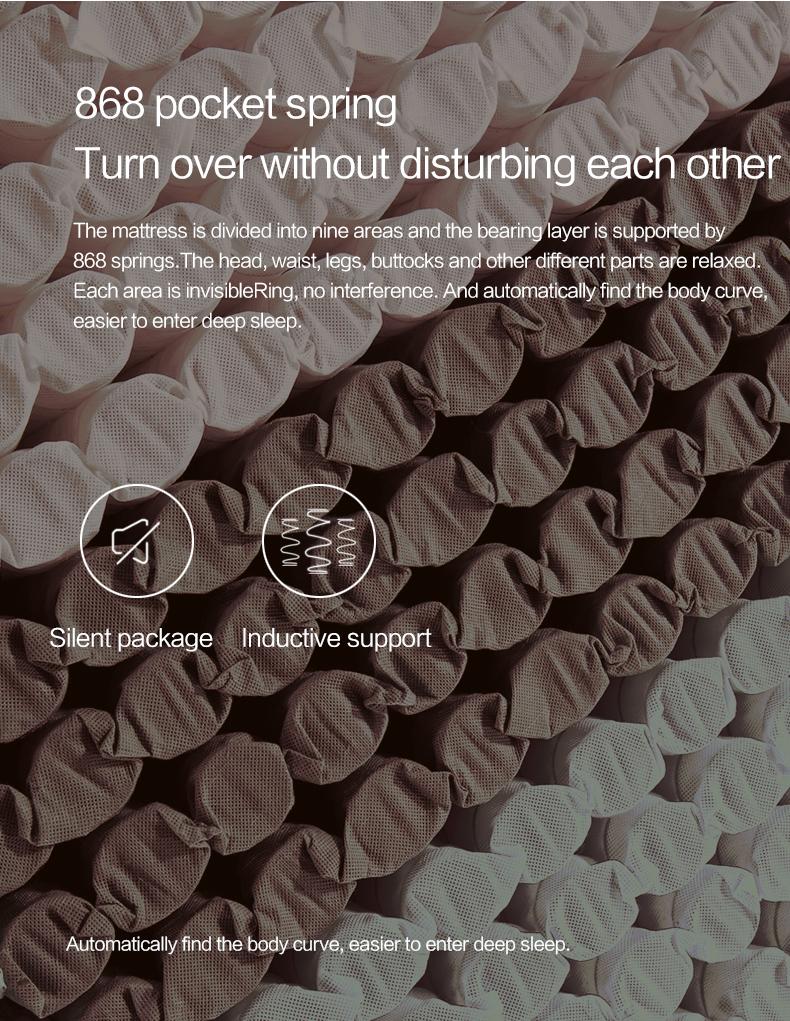 Pocket coil bamboo natural palm fiber memory foam single bed mattress price - Jozy Mattress | Jozy.net