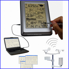Large LCD touch display weather station with full weather sensors