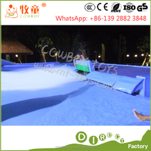 New Design long Swimming Pool Wave Machine flow ride blue surf wave pool