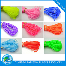Multi color silicone rubber string with high flexibility