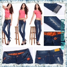 Most Fashion Style Custom Size Woman's Skinny Super Quality Thick Denim Jeans