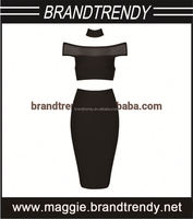 Black 2 Piece free pron images sexy party queen dress