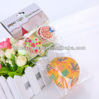 Cute printing paper cup cake with topper decoration for birthday party