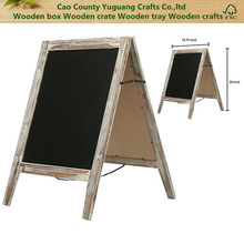 BSCI Certification Country Rustic A-Frame Chalkboard Sign Stand, Double-Sided Sidewalk Message Board