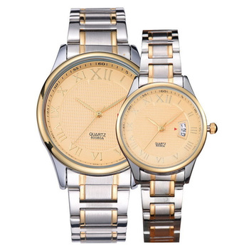 Wholesale Luxury Custom Logo Rose Gold Couple Watch