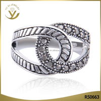 Best selling plain style silver plated ring with no diamond eco-friendly zinc alloy jewelry for men and women