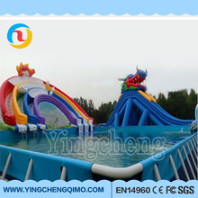 Outdoor Kids Inflatable Playground offer cheap inflatable aqua park framed swimming pool