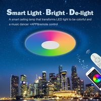 Topband user friendly power saving colorful RGB intelligent control LED smart ceiling light 40W/smart LED lights
