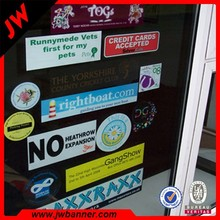 Full color printing removable window decals for kids