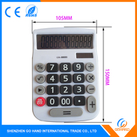 Best Quality Gifts Plastic Solar Big Display Calculator For Office