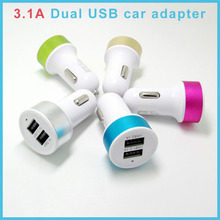 2.1A max Dual USB port universal portable cell phone charger adapter for iphone for samsung