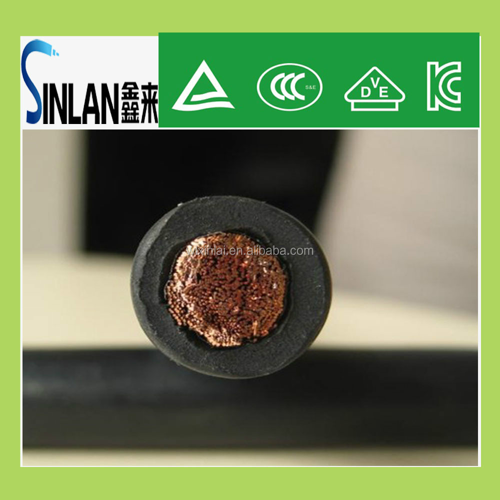 TUV rubber&pvc insulation 50mm2 pure copper electrici welding cable