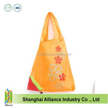 190T strawberry nylon polyester foldable shopping tote bag ALD646