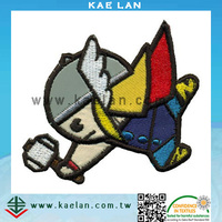 Cartoon hero applique patch for kids garment, apparel decoration embroidery patch