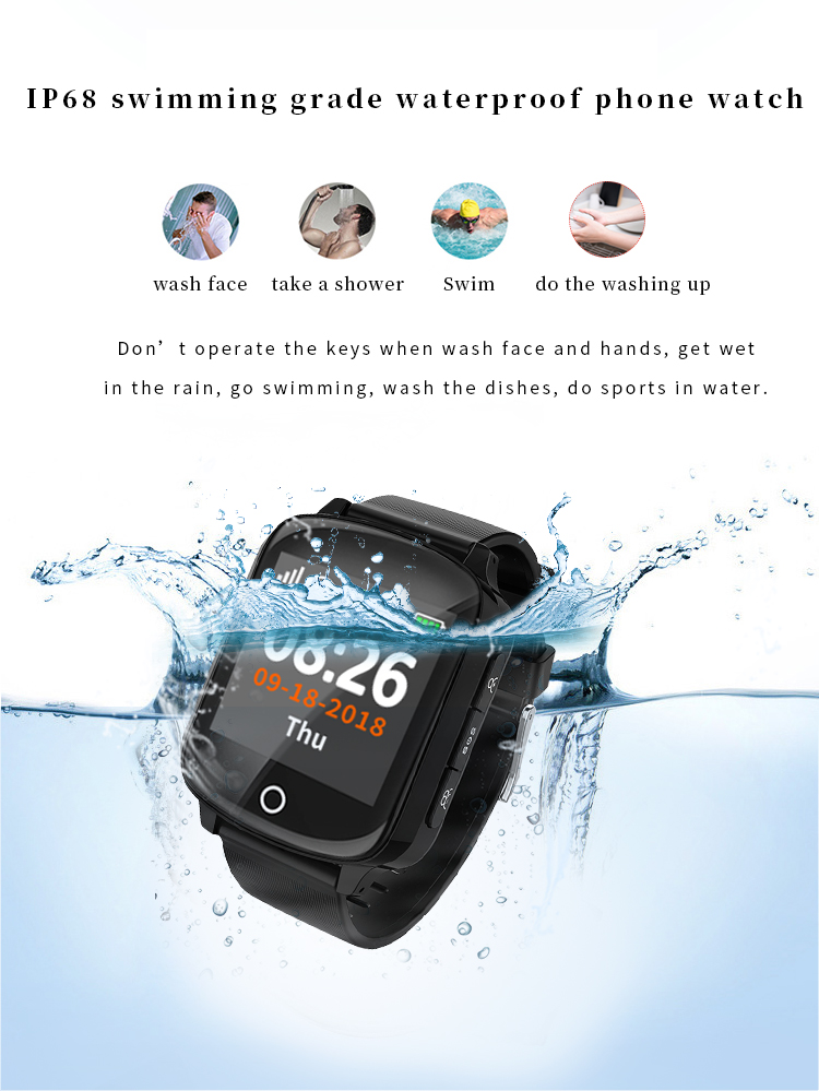 WONLEX EW200s Pedometer Sleep Monitor GPS Smart Watch Eldery waterproof GPS Watch with BP&HR