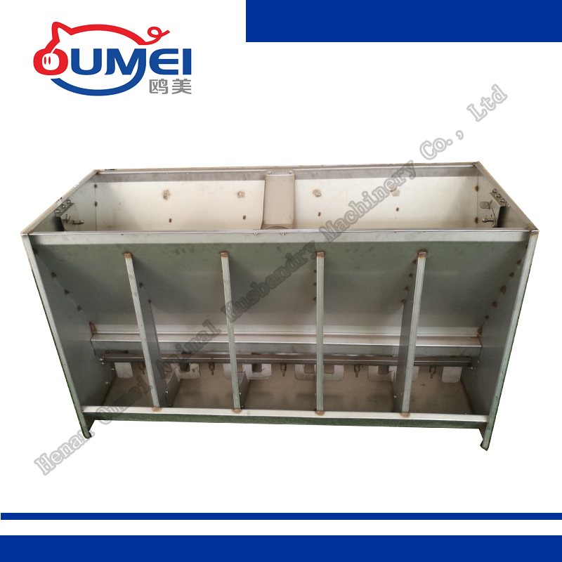 Automatic Stainless Steel 5 Holes Double Side Pig Feeder for Finishing Pig