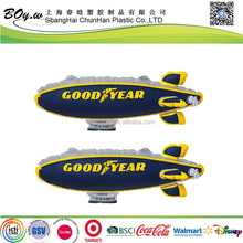 Suppermarket hot sale testing LOGO printing air plane children air toys hanging pvc inflatable blimp