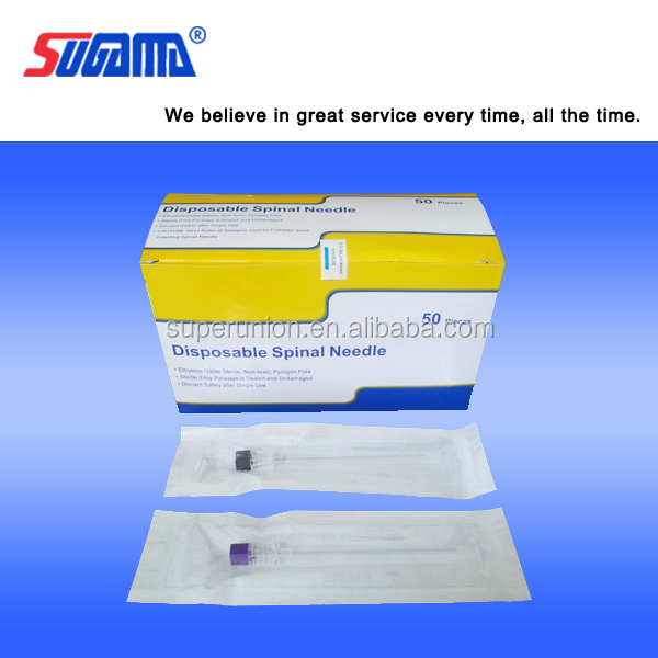 high quality chiba type and pen type medical device disposable spinal needle