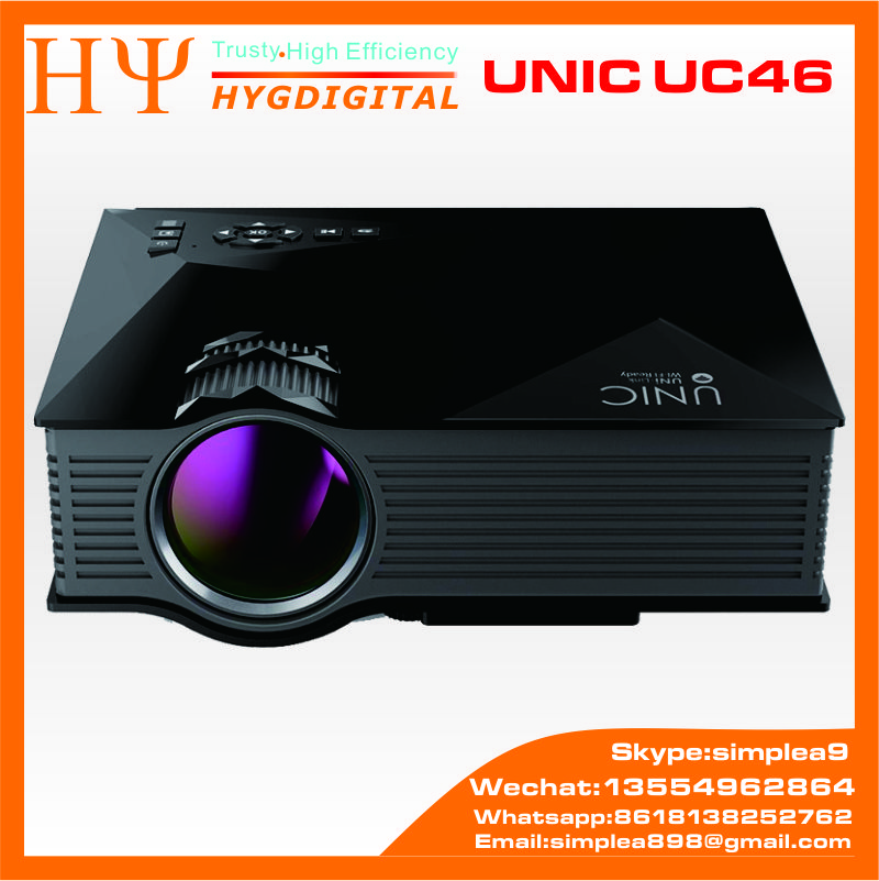 UNIC UC46 Full HD 1080P Home Cinema Theater&Laptop 1200Lumens LED Wireless WIFI Mini Pocket Projector