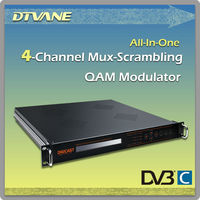 2014 Hot sale 4 channel mux-scrambling digital cable tv modulator supporting 16*ASI or 4*ASI or 8*Tuner in for DMB-5120