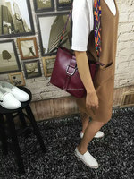 wholesale top quality fashion designer real leather bags for women wax vintage genuine leather women shoulder bags lady purses