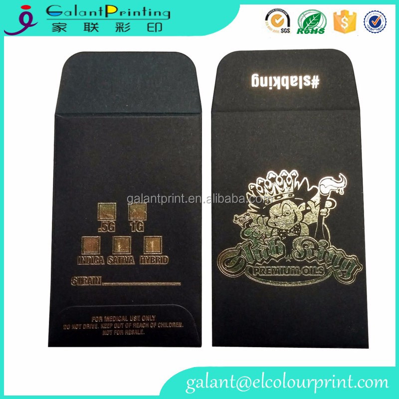 Full color embossing extractions envelopes shatter labels with customized design