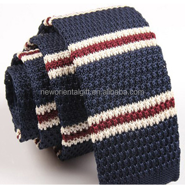 Custom Polyester stripe Knitting neckties