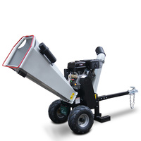 Trailer mounted 15 hp Ducar/Briggs & Stratton/Honda/Loncin gasoline drum wood chipper