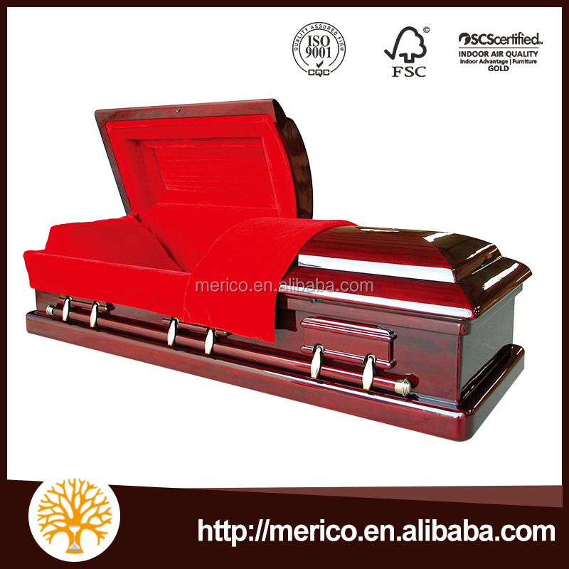 Magistrate Red casket wood coffin wholesale coffin direct buy china