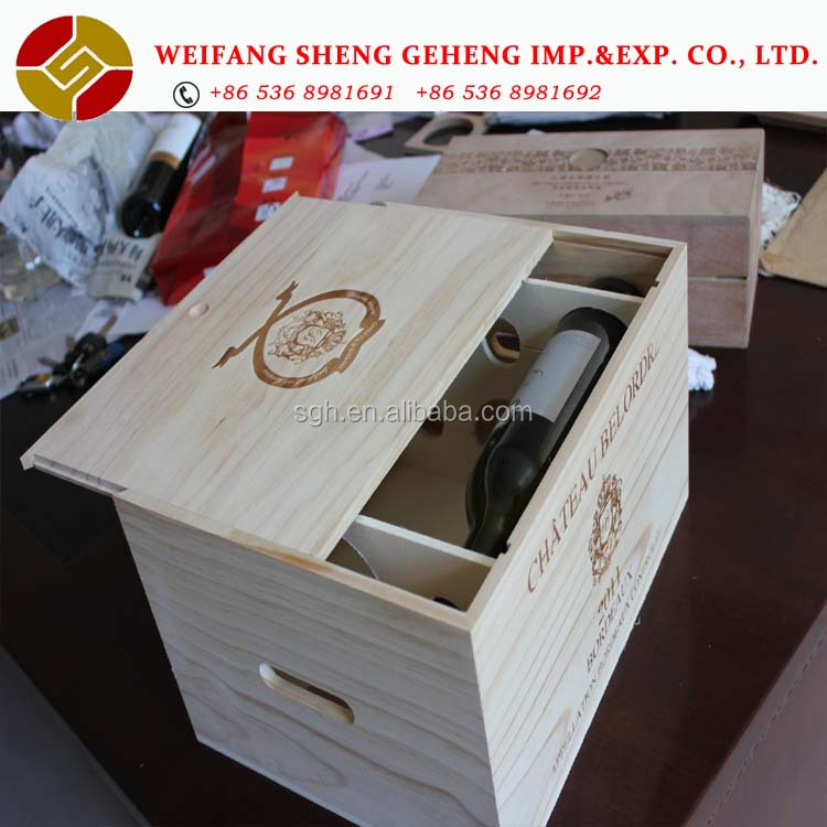 wooden box for wine,wood wine box,wood wine crate