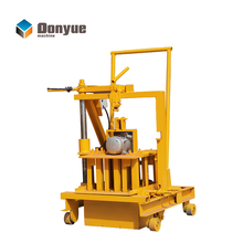 DONGYUE QT40-3C mobile hollow block brick making machine/ laying concrete block used