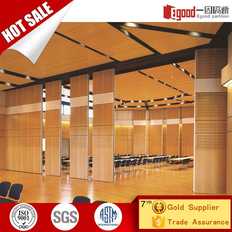 Acoustic soundproof fabric veneer panel wall removable partition door curtain for hotel banquet hall