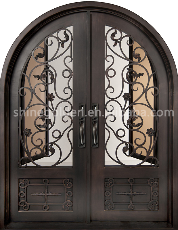 Happiness House Gate Design customized design indoor/outdoor iron gate door prices SG-14D021