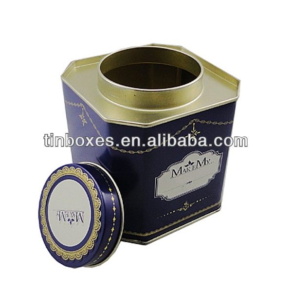 square packaging tea tin box