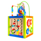 Multifunctional wooden toy bead maze activity cube for children play