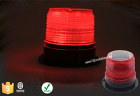 Bright Rotating Solar LED Warning Beacon Lights/Red Traffic Signal Strobe Beacon For Cars