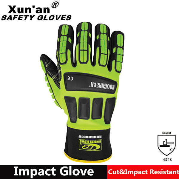 Custom RG knitted finger protection cut resistant gloves