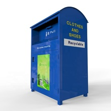 Assembly type clothing bins public area donation box