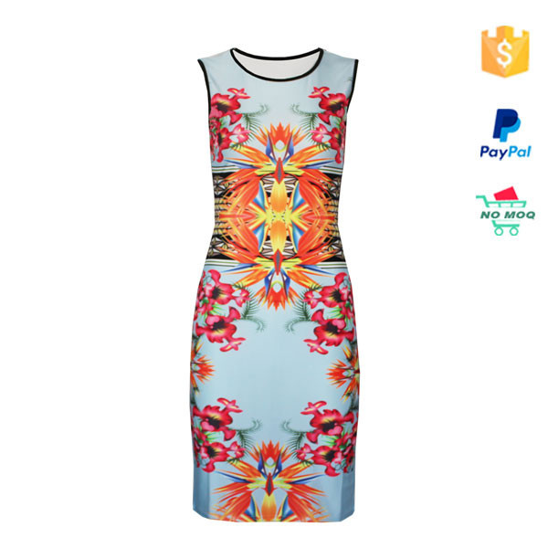 2015 Floral Print Celebrity Bodycon Bandage Dress Wholesale