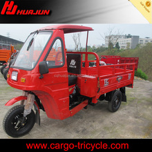 Three wheel cabin motorcycle/covered cargo tricycles