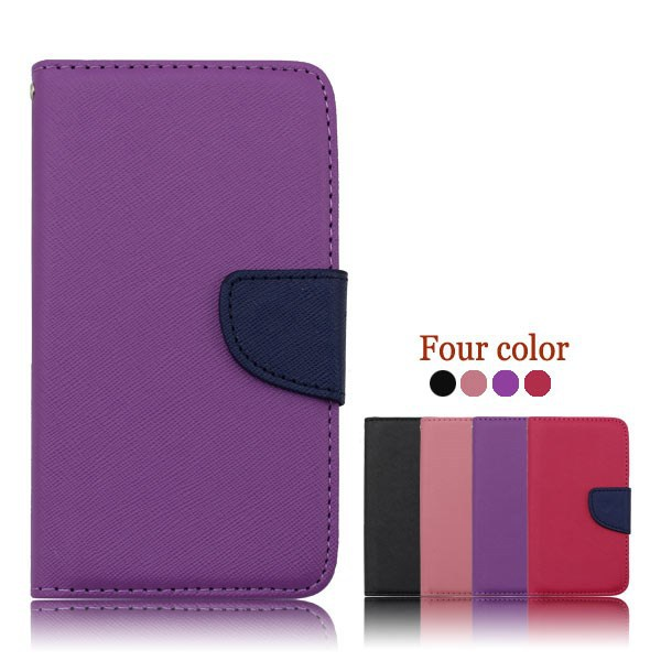 Wallet Leather PU Flip Case Cover For WIKO cink peax