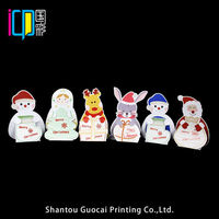 Christmas style custom art paper card printing