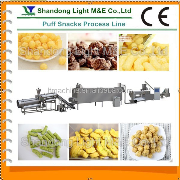 Extruded Core Filled Puff Corn Flour Snack Extruding Equipment