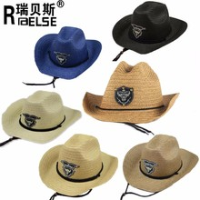 fashion cheap wholesale panana straw cowboy hat for promotion